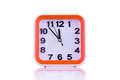 Square orange clock isolated on white background front view - PhotoDune Item for Sale