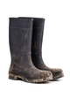 Dry dirty Mud boots isolated on pure white background 3/4 view - PhotoDune Item for Sale