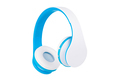 Blue wireless headphones front view isolated on white background - PhotoDune Item for Sale