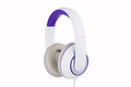 White and purple padded headphones side view isolated on white background - PhotoDune Item for Sale