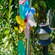 Windy Revolving Object in a Garden - VideoHive Item for Sale