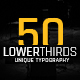 50 Minimal Lower Thirds - VideoHive Item for Sale