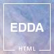 Edda - Creative Portfolio and Multipurpose HTML Template - ThemeForest Item for Sale