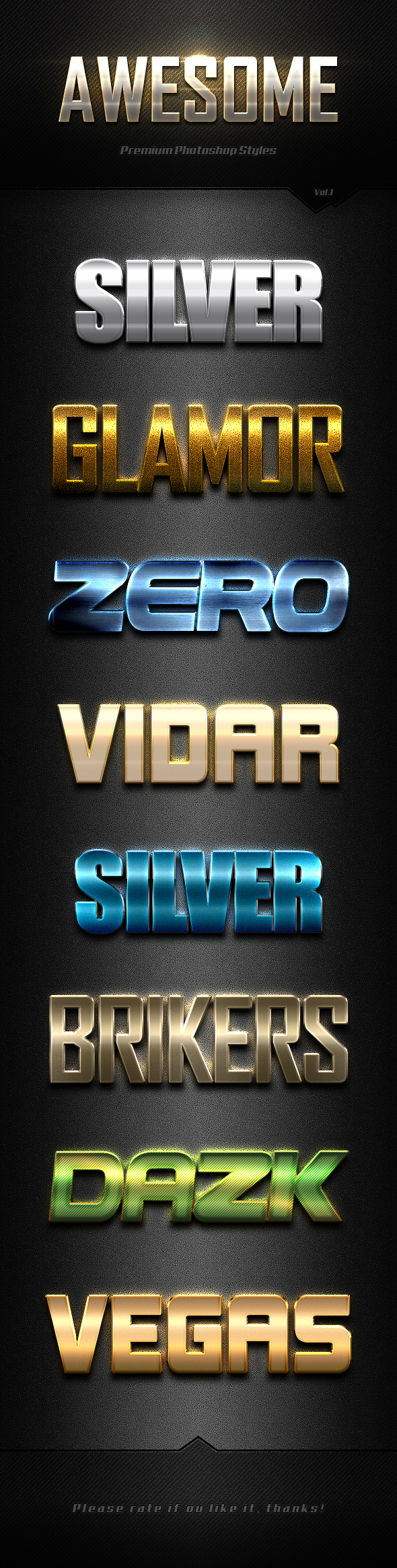 Photoshop Text Effects Vol.1