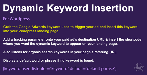 Wordpress Dynamic Keyword Insertion