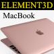 Element3D - Apple Macbook 2015 - 3DOcean Item for Sale
