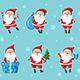 Set of Christmas Santa Claus - GraphicRiver Item for Sale