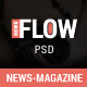 Flow News - Magazine and Blog PSD Template - ThemeForest Item for Sale