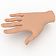 Hand Model for 3D Cartoon Model - 3DOcean Item for Sale