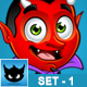 Cartoon Devil Chacater – Set 1 - GraphicRiver Item for Sale