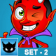 Cartoon Devil Character – Set 2 - GraphicRiver Item for Sale