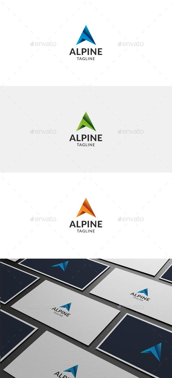 Alpine Letter A Logo
