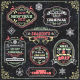 Vector Christmas Greeting Labels - GraphicRiver Item for Sale