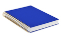 blue notebook isolated on white background. 3d illustration - PhotoDune Item for Sale