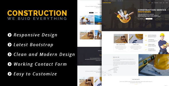Construct - HTML 5 Template for Construction/Building Business