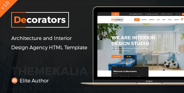 Decorators - HTML Template for Architecture & Modern Interior Design Studio