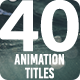 40 Animation Titles & Lower Thirds - 4k - VideoHive Item for Sale