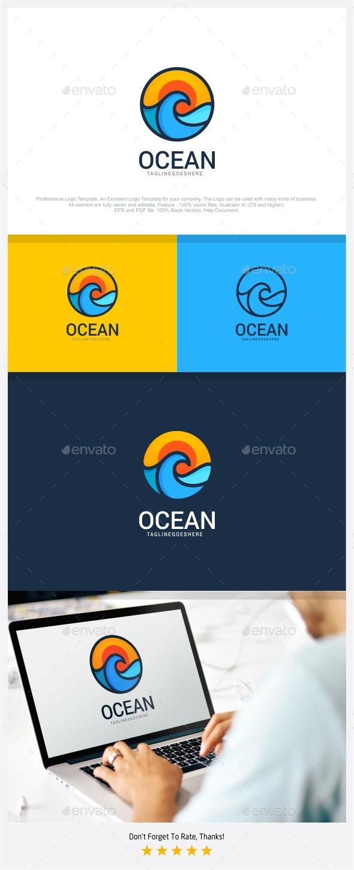 Ocean - Travel Logo