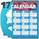 Fresh Wall n Desk 2017 Calendar Template - GraphicRiver Item for Sale