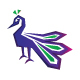 Peacock Grace - Graceful Bird Stock Logo Template - GraphicRiver Item for Sale