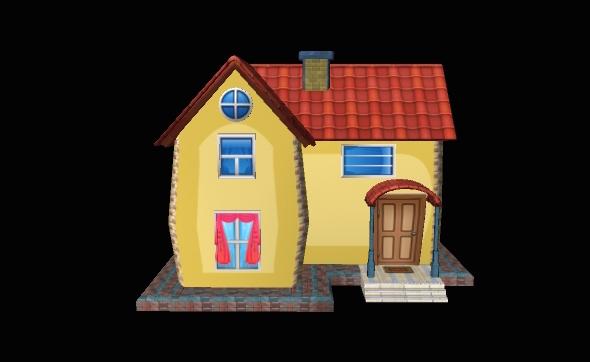 Cartoon House CG Textures & 3D Models from 3DOcean