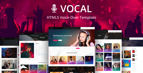 Vocal - Voice Over artist HTML Website Template
