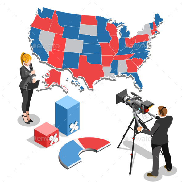 Election News Infographic Parliament Vector Isometric People