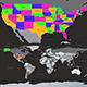 America map - 3DOcean Item for Sale
