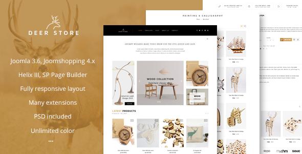 DeerStore - eCommerce Joomla Template