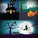 18 Halloween Backgrounds/Cards Landscape - GraphicRiver Item for Sale