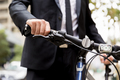 Young businessmen with a bike - PhotoDune Item for Sale