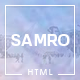Samro - Responsive One Page HTML Template - ThemeForest Item for Sale