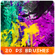 Watercolor Splatter Paint Photoshop Brushes - GraphicRiver Item for Sale