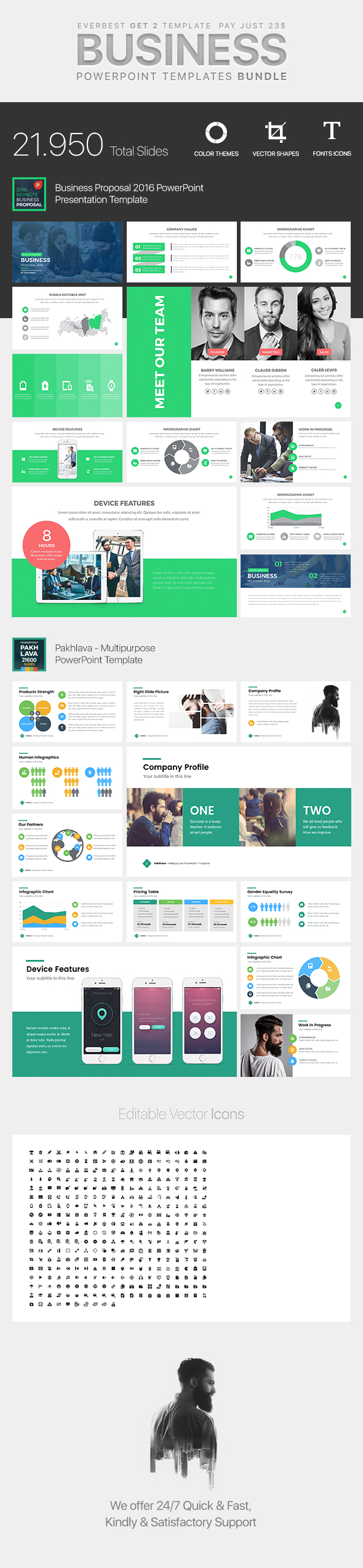 Business Bundle PowerPoint Template 2 in 1