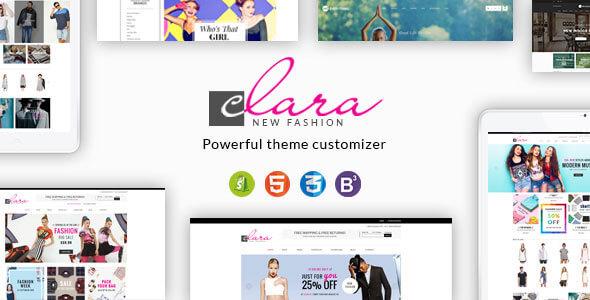 Clara - Minimalist Fashion Responsive Shopify Theme