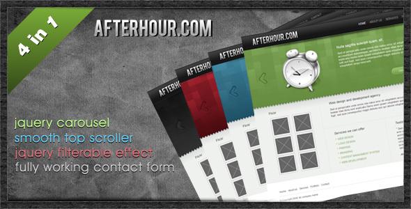 Professional Portfolio Template - Afterhour
