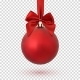 Red Christmas Ball on Transparent Background - GraphicRiver Item for Sale