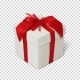 Gift Box with Red Ribbon and Bow - GraphicRiver Item for Sale