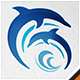 Dolphins Water Park logo - GraphicRiver Item for Sale