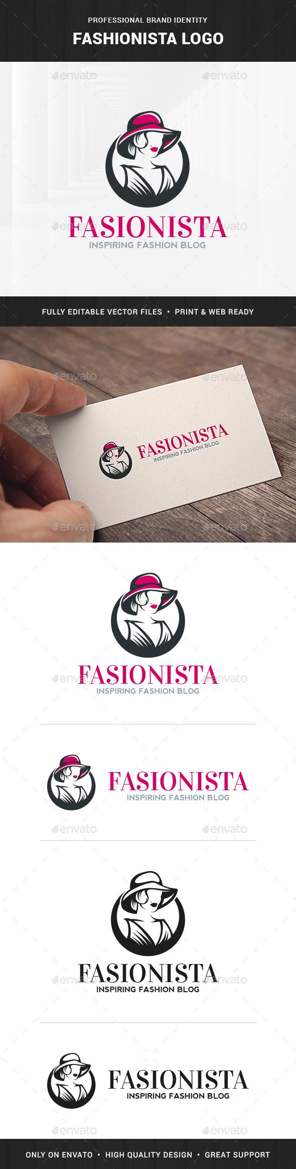 Fashionista Logo Template