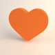 Heart 3d icon - 3DOcean Item for Sale