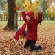 Children Playing with Autumn Fallen Leaves - VideoHive Item for Sale