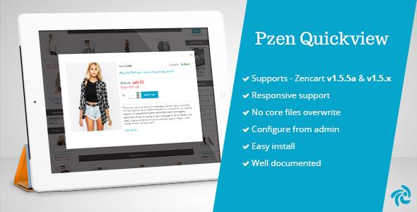 Pzen Quick View for Zencart