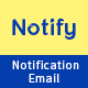 Notify - Notification Email Template PSD - GraphicRiver Item for Sale