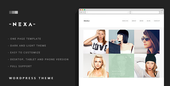 NEXA – Portfolio & Business sliding WordPress Theme Free Download