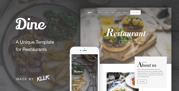 Dine - A Unique Restaurant Template