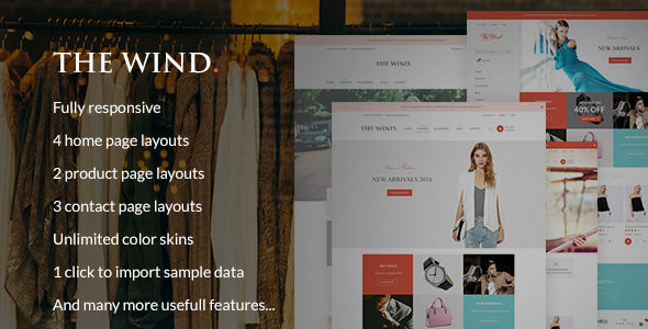 The Wind - Responsive Prestashop Theme