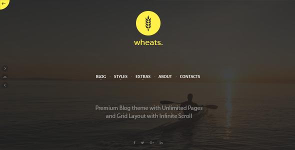 Wheats - WordPress easy blogging theme