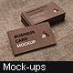 Kraft Paper Business Card Mockup - GraphicRiver Item for Sale