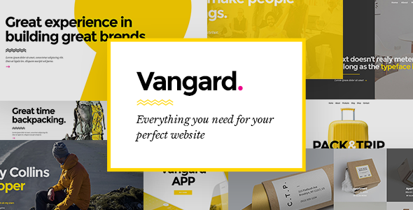 Vangard - A Theme for Freelancers and Agencies